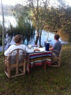 lakeside breakfast