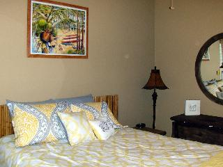 Another view of the Queen size bed in Bedroom 1