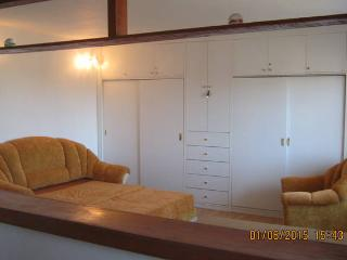 open space with sofa beds and wardrobe