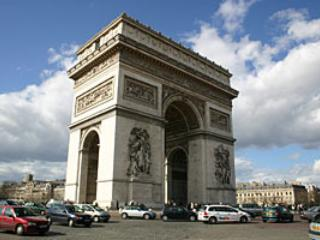 L'arc de Triomphe à 500m