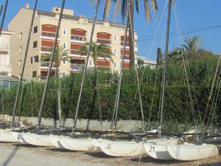le George Sand from the beach. Sail boats for hire