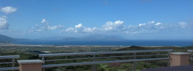 View of the Island of Samos from our Roof Terrace in March