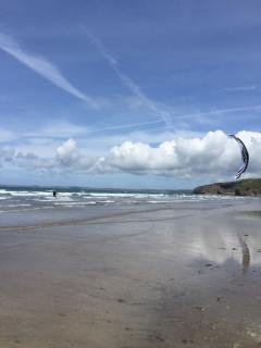 Martin kite surfing at Broad Haven