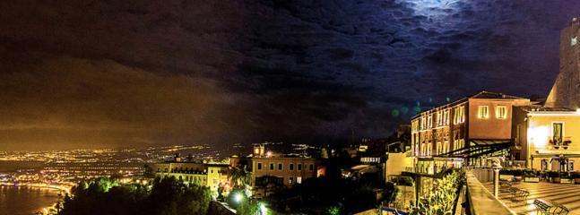Taormina view at night