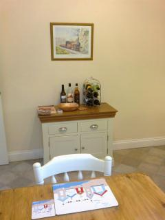 Wine, spirits and  beers available (honesty bar)
