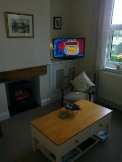 TV (Freeview and Freesat) in lounge and bedroom