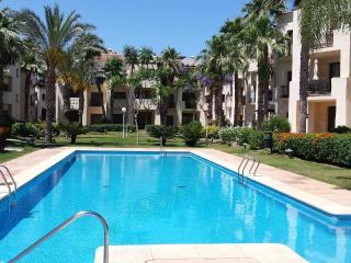 delightful relaxing view over pool and gardens; with a south west aspect you are guaranteed sunshine
