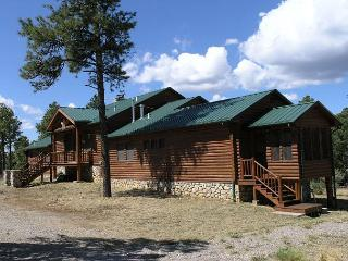 Blue Lake Lodge is a completely secluded log cabin on 10 acres., Ranchos De Taos
