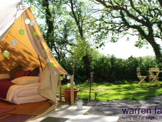 Beautiful 6m bell tent at Warren Farm. Wales