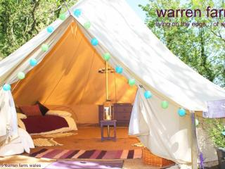 One of several 6m bell tents at Warren Farm, Merrion