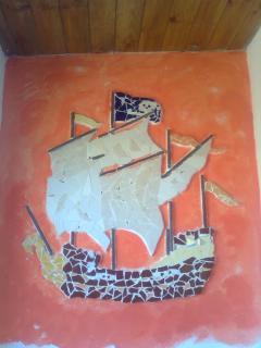 mosaico en el cuarto de baño