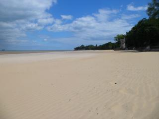 Plenty of space and soft, white sand for little hands to build sandcastles with on Appley beach