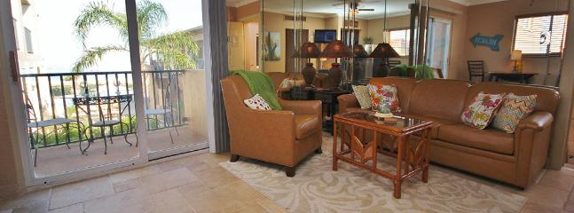 Belleair Beach Club 201 is a one bedroom condo with an open layout and balcony