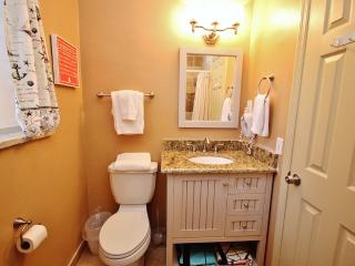 You'll love the updated and functional bathroom at Belleair Beach Club 201