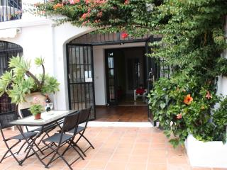 Patio area, exterior table and 4x chairs supplied, sea view, landscaped gardens.