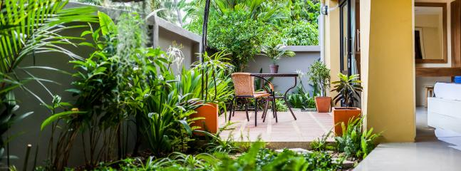 Private Garden Patio outside Bedroom 4