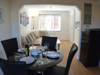 Spacious open plan dining area