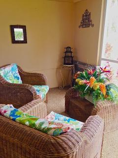 Screened in Lanai with gorgeous view