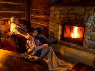Romantic nights next to the open fire.