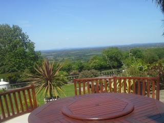 Seating area with views over Mount Leinster and River Slaney