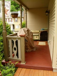 Covered side porch for grilling in any weather