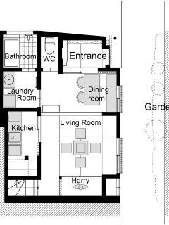 Kiyomizu Machiya 1F - Floor Plan