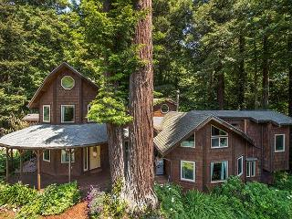 Perfect Redwood Getaway - Privacy w/ hot tub just a mile to the beach!