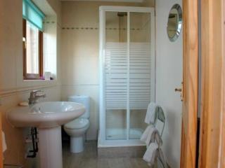 Shower room with towels provided