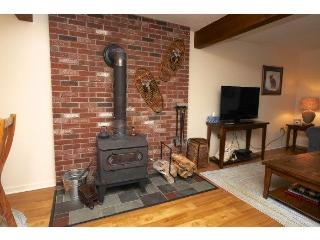 Wood stove for chilly winter nights.