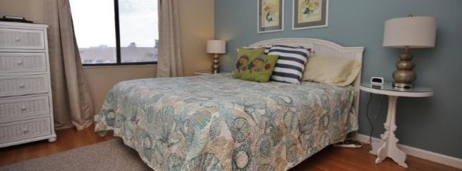 Soothing colors in Master bedroom will help lull you to sleep