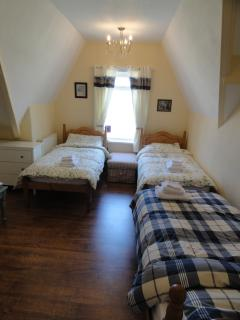 There are single beds available too. Suitable for adults or children.