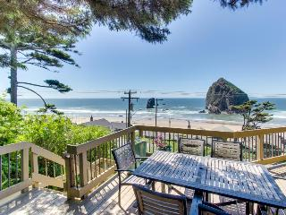 Relax in the hot tub & warm by the fire at this dog-friendly beachfront home!, Cannon Beach
