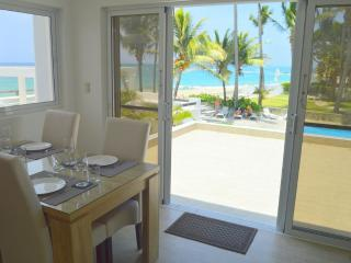 View of kite beach, swimming pool and gardens from your kitchen.