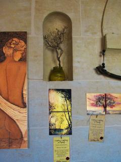 Calipso Goddess pyrography & Woody ArTiles by L'ARTEdiGIOVAnna