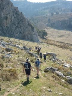 Walking group near El Burgo