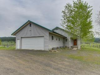 Western ranch w/ mountain views & fireplace near Roseberry!, McCall