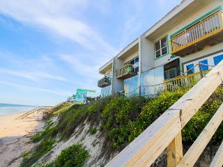 Dog-friendly oceanfront condo w/ ocean views & beach access - snowbirds welcome!