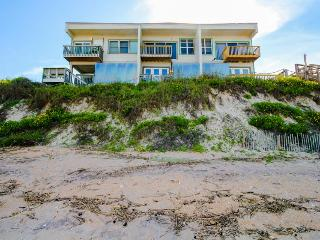 Dog-friendly, oceanfront triplex for 18 with a private beach & gorgeous views!