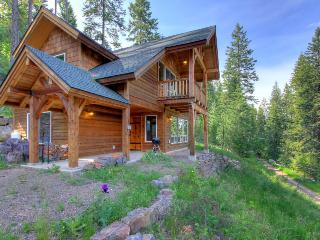 Rustic dog-friendly cabin with a wood stove and mountain views, Sagle