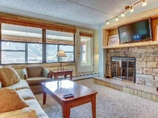 Cozy, modern condo near skiing w/ enclosed, private balcony & shared hot tub!