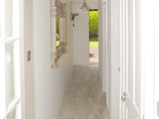 Rear entrance and hallway