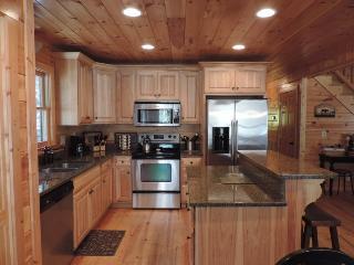 River Front Cabin with Huge Game Room in the Coosawattee River Resort Ellijay Ga