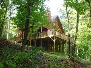 New River Cabin With Hot Tub, Pool Table, Fire Pit, WiFi & Pets Allowed, West Jefferson