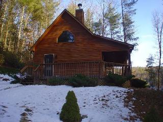MTN HOME OVERLOOKING POND NEAR BOONE WITH WIFI, GAS FIREPLACE & PETS ALLOWED!