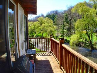 CHARMING LOG CABIN, NEW RIVER ACCESS, & HOT TUB! PRESIDENTS DAY WEEKEND AVAIL