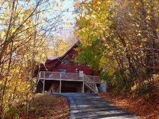 3 Level Log Cabin With Privacy, Hot Tub & WiFi! Decorated For Christmas!, West Jefferson