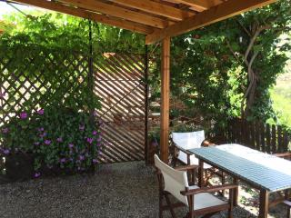 Shaded table under front veranda