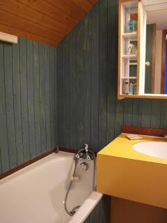 Salle de bain à l'étage avec wc et placard rangement