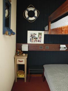 chambre rdc avec lits superposés