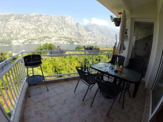 Top Apartment with Balcony, Shared Pool in Prcanj